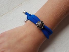 Kinderarmbandje Zeeuwse knop blauw