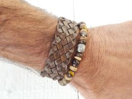 Armband leer bruin