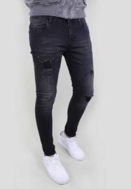 Slim fit Jeans 'Destroyed' 82655 Black Gabbiano