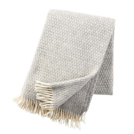 Klippan Plaid lamswol Knut - Light Grey