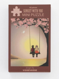 Vissevasse Mini Puzzel Sunset with You