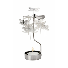Pluto Produkter theelicht carrousel Dragonfly Silver