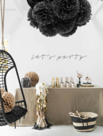 Delight Department Pom Pom Zwart (set van 2)