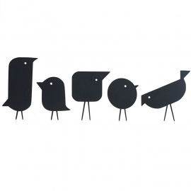 Interieursticker Scandic birds, 5 vogels