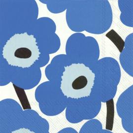 Marimekko Papieren servetten Unikko Blue