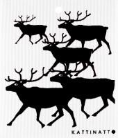 Kattinatt Zweedse vaatdoek Reindeer
