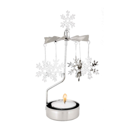 Pluto Produkter theelicht carrousel Snow Flake Silver