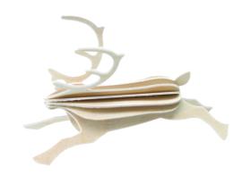 Lovi Reindeer houten rendier kaart | Naturel | 2 maten