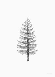 Inkylines Dennenboom A4 print