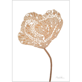 Monika Petersen Mini Art Print Poppy 2 | A5
