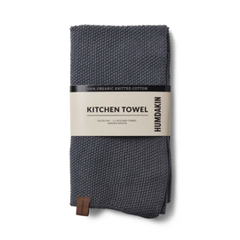 Humdakin Dark Ash Knitted Kitchen Towel Handdoek