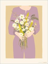Vissevasse poster Garden Girl - 2 maten