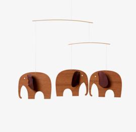 Flensted mobiel Baby Elephants Wood 3