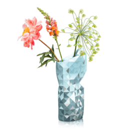 Tiny Miracles Paper Vase Cover - Grey Gradient with Silver - large