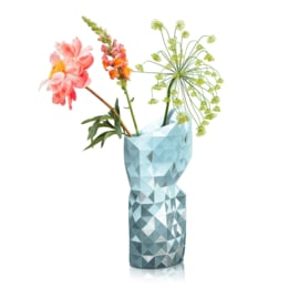 Tiny Miracles Paper Vase Cover | Grey Gradient with Silver | large
