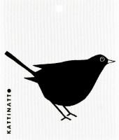 Kattinatt Zweedse vaatdoek Blackbird