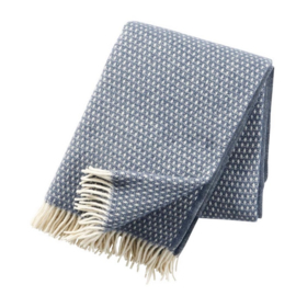 Klippan Plaid lamswol Knut - Smokey Blue