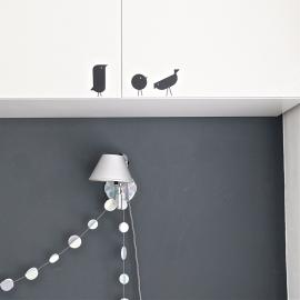 Interieursticker Scandic birds, 5 vogels