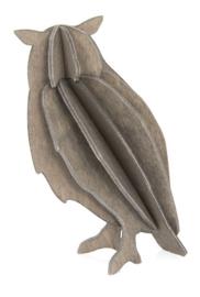 Lovi Owl houten uil kaart - Medium - diverse kleuren