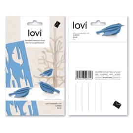 Lovi Minibirds houten vogeltjes kaart - Extra small - diverse kleuren