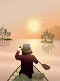 Vissevasse poster Canoeing on the Lake