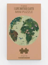 Vissevasse Mini Puzzel I love Mother Earth