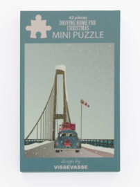 Vissevasse Mini Puzzel Driving home for Christmas