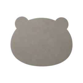Lind DNA kinderplacemat Bear -  Nupo Light Grey