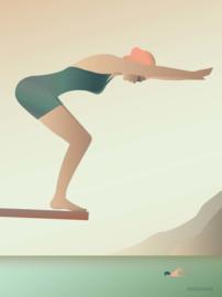 Vissevasse poster The Swimmer | 3 maten