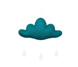 Gamcha vilten wolk Donker Mint