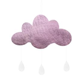 Gamcha vilten wolk Paars Medium