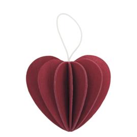 Lovi Heart houten hart kaart - Small - diverse kleuren