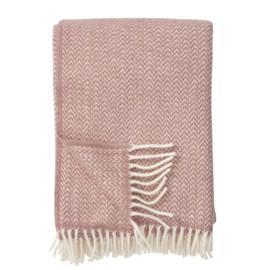 Klippan Plaid lamswol Chevron - Nude roze