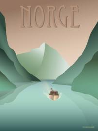 Vissevasse poster Norge Fjords | 3 maten
