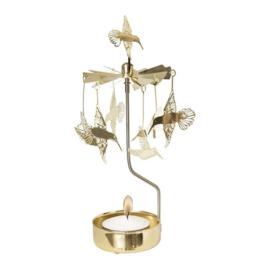 Pluto Produkter theelicht carrousel Kolibri Gold
