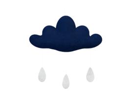Gamcha vilten wolk Donkerblauw