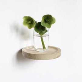 Zwevend wandplankje hout