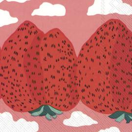 Marimekko Papieren servetten Mansikkavuoret Rose