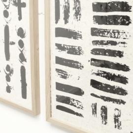 NADesign Olifantenpoep poster Streep patroon (2 maten)