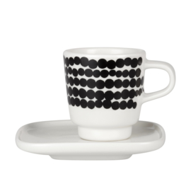 Marimekko Oiva Räsymatto espressokop met schotel