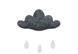 Gamcha vilten wolk Middengrijs