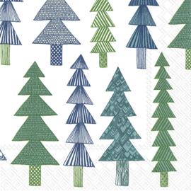 Marimekko Papieren servetten Kuusikossa Green Small