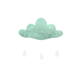 Gamcha vilten wolk Mintgroen
