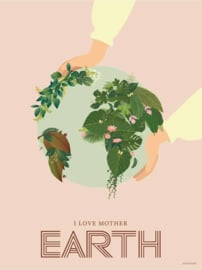 Vissevasse poster I love Mother Earth - 2 maten