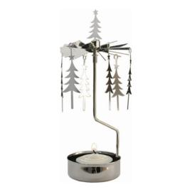Pluto Produkter theelicht carrousel Tree Silver