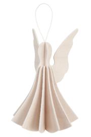 Lovi Angel houten engel kaart - Licht berken - 2 maten