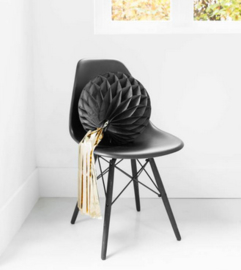 Delight Department Honeycomb met tassel zwart/goud