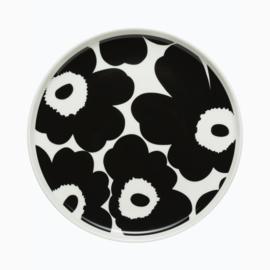 Marimekko Unikko zwart-wit bord 20 cm