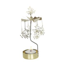 Pluto Produkter theelicht carrousel Mistletoe Gold