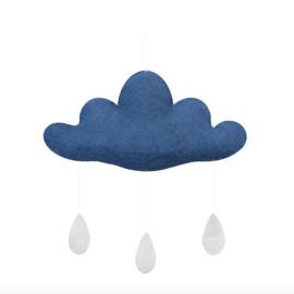 Gamcha vilten wolk Middenblauw